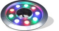 چراغ فواره ضد آب مولتی کالر 9 وات 12 ولت مناسب لوله 3.4 تا 2 اینچ